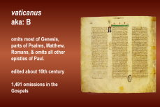 The vaticanus codex